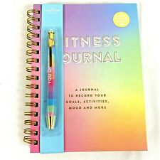 Workout Fitness and Nutrition Journal Planner Goals Tracking Menu Planning