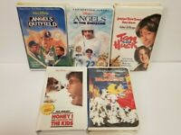 Lot of 5 Disney VHS Tapes 101 Dalmatians Tom And Huck Angel's In The Outfield