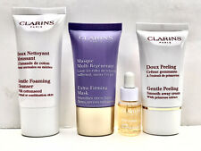 Clarins 4 Pce Face Treatment Set Mask,Cleanser,Gentle Peeling,Face Oil-Sealed