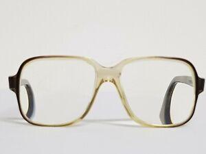 Vtg 60s Square mens frames Titmus Z87 Oversized Eyeglasses thick frame glasses