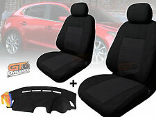 MAZDA 3 BM Neo Hatch Black SEAT COVERS F+R & DASH MAT Package 2/2014-2018 DM1341