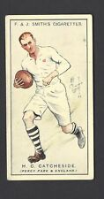 SMITH - PROMINENT RUGBY PLAYERS - #5 H C CATCHESIDE, PERCY PARK & ENGLAND