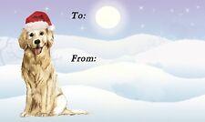 Golden Retriever Dog Christmas Labels by Starprint - No 5