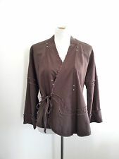 Trans-seasonal Piece! Body size XL chocolate wrap top in excellent condition