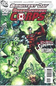 Green Lantern Corps #50 (Sept '10)- Cybrog Superman returns -Alpha Lantern Corps