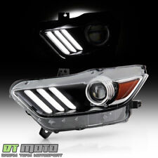 2015 2017 Ford Mustang Hidxenon Led Tube Projector Headlight Headlamp Driver Fits Mustang