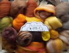 100g Wool Roving off Cuts / Merino, Corriedale British, Natural, Needle felting