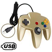 N64 USB Controller - Nintendo 64 Kontroller USB Joystick in Gold für PC MAC NEU