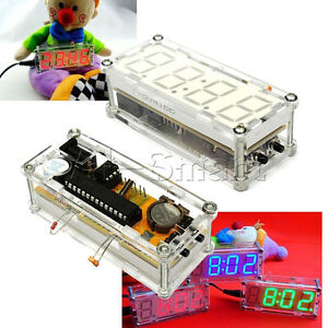 DIY kit LED 0.8' Digital Electronic Clock Microcontroller Time Thermometer Red A