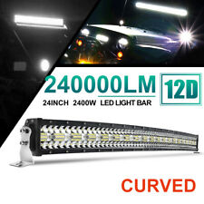 42inch 2400W LED Light Bar Curved Spot Flood Offroad Driving Truck 4WD Boat 44""