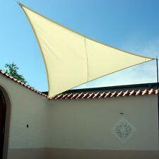Lujo Toldo de Sol Impermeable Triángulo & Cuadrado Tarp Protección Solar Lluvia