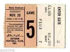 1966 INAUGURAL SEASON MIAMI DOLPHINS @ NEW YORK JETS TICKET STUB NAMATH