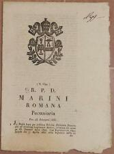 SENTENZA SACRA ROTA ROMA ROME LAZIO LERA FRANCESCO FRONTONIO VIA FRATTINA 1835