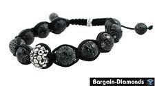 shamballa disco ball 12 mm snakeskin agate beads black macrame hip hop bracelet
