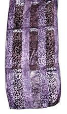 SCARF Long Lavender & Purple Python SNAKESKIN PRINT