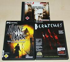 3 PC Giochi raccolta-ALONE IN THE DARK-Silent Hill 4 the Room-scratches