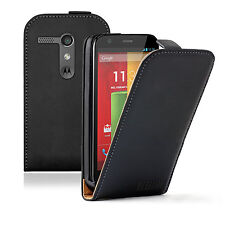 ULTRA Sottile Nero Flip Case Cover Custodia per Motorola Moto G / XT1032