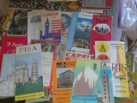 Vintage Travel Brochures Pamphlets Maps European