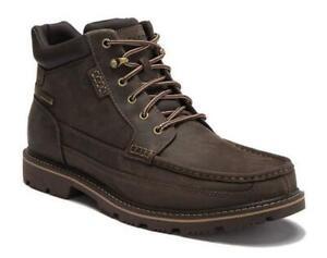 ROCKPORT Men's Casual Waterproof Leather Ankle Boot in Dark Brown