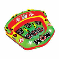 World of Watersports Bingo 3 Rider Inflatable Towable Tube with 2 Tow Points