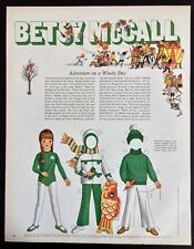 Vintage Betsy McCall Mag. Paper Doll, Adventure on a Windy Day, Oct. 1970
