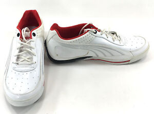 Puma Shoes SL Street Lo NM Basic White/Red Sneakers Size 8.5