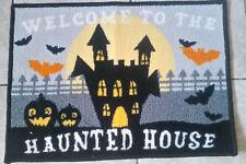 Washable Quirky Halloween Haunted House Door Mat