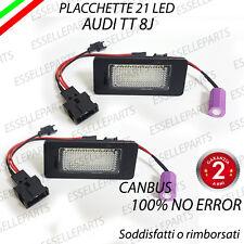 COPPIA PLACCHETTE A LED LUCI TARGA 21 LED AUDI TT 8J 6000K ULTRALUMINOSI