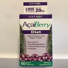 Natrol AcaiBerry Diet 60 Tablets Acai & Green Tea Superfoods Exp 8/31/17 60% Off