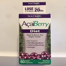 Natrol AcaiBerry Diet 60 Tablets  Acai & Green Tea Superfoods Exp 5/31/17