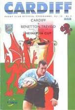 Cardiff V (BENETTON TREVISO) 11 DICEMBRE 1999 programma RUGBY HEINEKEN CUP