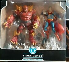 McFarlane DC Multiverse 2 Pack Custom red Doomsday vs Superman devastator