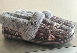 Skechers Womens Bobs Comfort Casual Too Cozy Slippers Pooch Parade Size 9