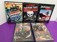 Lot of 5 Jackass Movie DVD 1 2 3 Unrated 2.5 3.5 Pre-owned