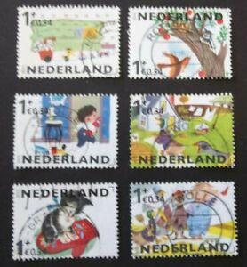 NETHERLANDS USED 2015 CHILDREN'S BOOKS 6 VALUE VF COMPLETE SET SC # B768 a - f