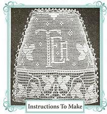 Vintage downton abbey era crochet pattern for tea cosy,cozy -requires fine yarn.