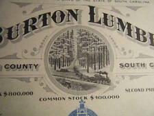 1910s E.P. Burton Lumber Company Charleston South Carolina CRISP/FRESH Unissued