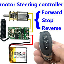 Motor Funkfernbedienung Schalter Empfänger 3.7V 4.5V 9V 12V Vorwärts Rückwärts