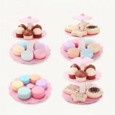 Kids Food Pretend Play Toy Set Sweet Treats Colorful Cake Cookies Dessert Tower