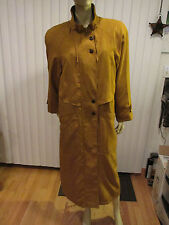 BRAETAN Gold Trench Coat w/Removable Liner Vintage Sz 12 Zipper Full Length EUC