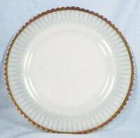 Cremax Petalware Dinner Plate Ivrene Depression Glass Gold Edge MacBeth-Evans