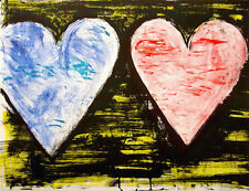 *JIM DINE 'TWO HEARTS AT SUNSET'  2005, LITHOGRAPH, SIGNED & NUMBERED, MINT!*