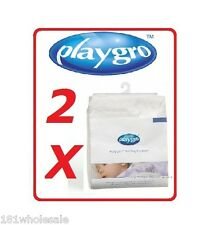 ❤ 2 X PLAYGRO = Fitted COT = WATERPROOF MATRESS PROTECTOR Boori Twin ❤