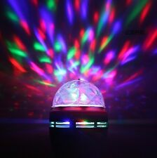 Rotating E27 Disco KTV Bar Party Stage Lighting LED RGB Crystal Ball laser Light
