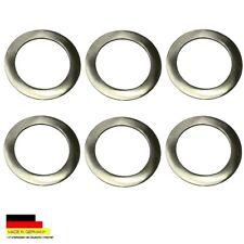 6 placas de acero inoxidable de Ø 7,0 cm de platos de estaño 0,25 litros