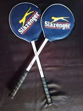 Vintage Wood Slazenger Panther Squash Racquet Set W/Covers