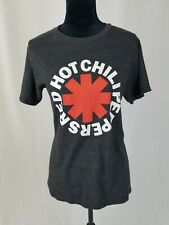 Bravado women S Red Hot Chili Peppers graphic band tee gray short sleeve