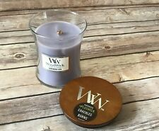 Woodwick Lavender Spa Scented Hourglass Candle 9.7 oz Crackles as it Burns