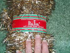 "1 Gold 25' Long 4"" Wide  Christmas Tree Garland Italia Soft Drape Tinsel Garland"