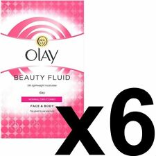 6 Olay Beauty Fluid Normal Dry Moisturiser Face Body NonGreasy ClassicCare 100ml